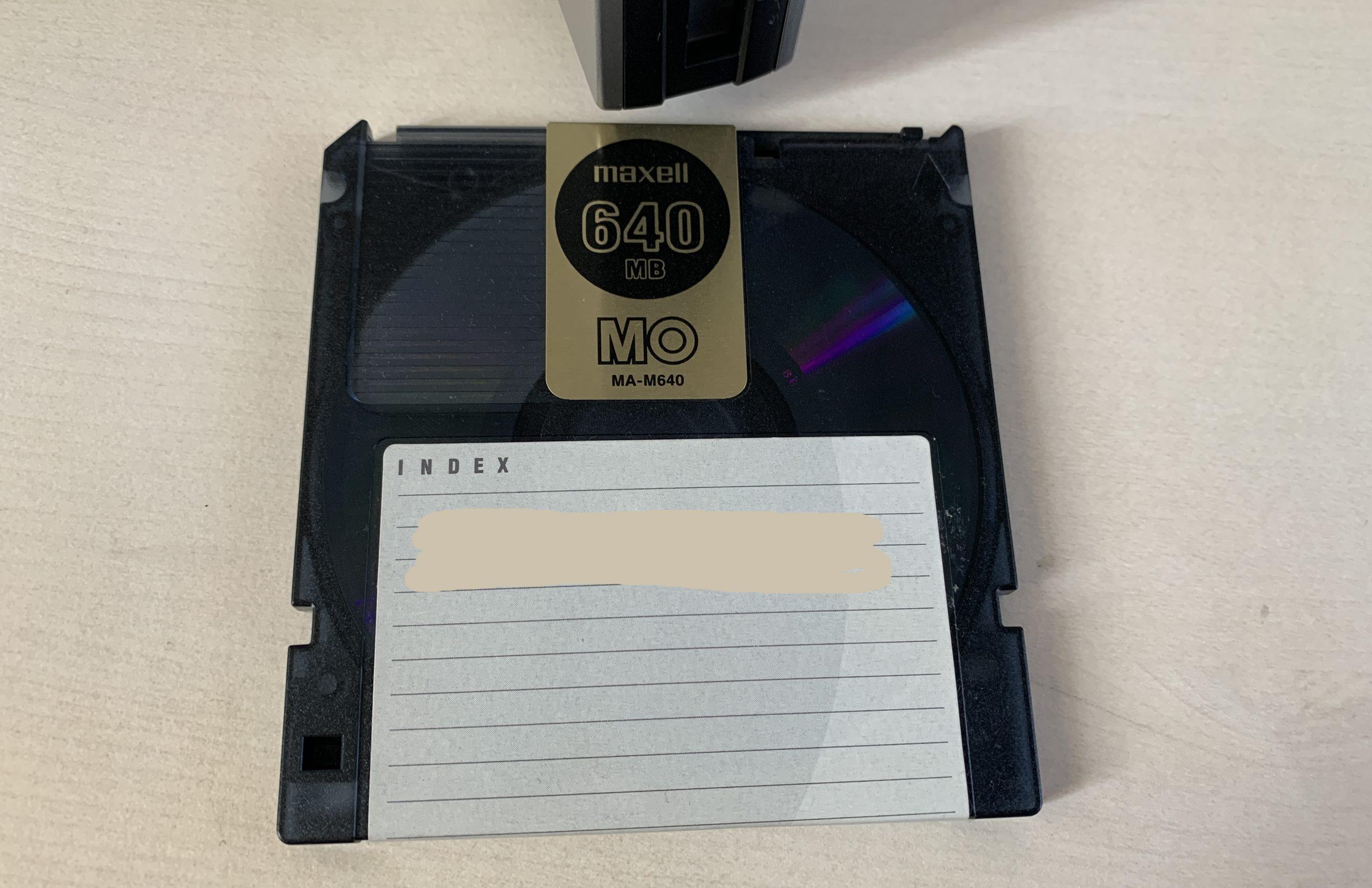 マクセル製MO(640MB)